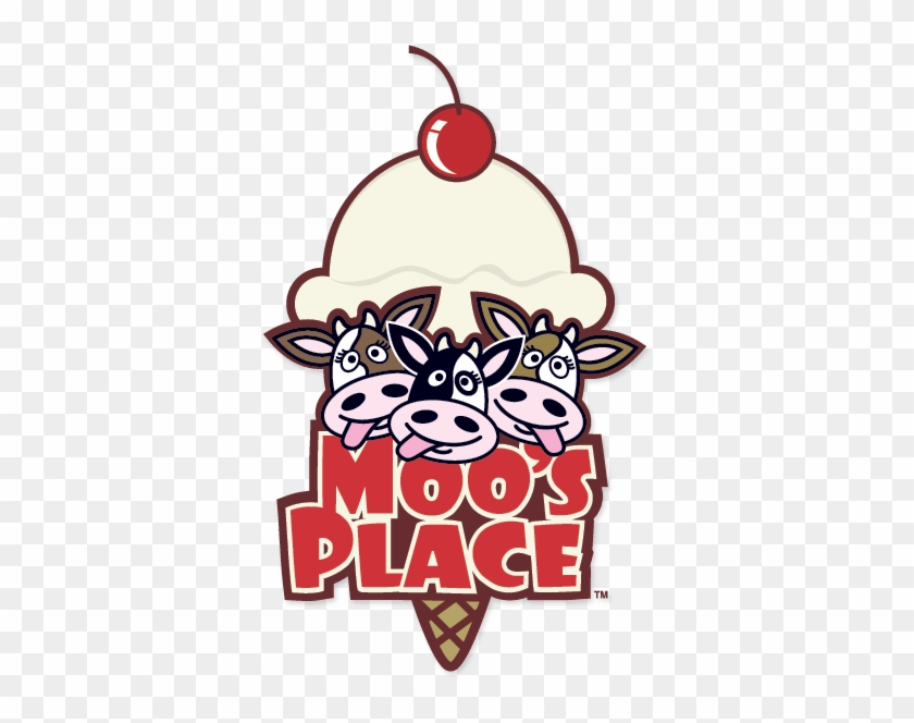 This Is A Logo Which Displays The Illustrated Heads - Cow Ice Cream Logo #1281566