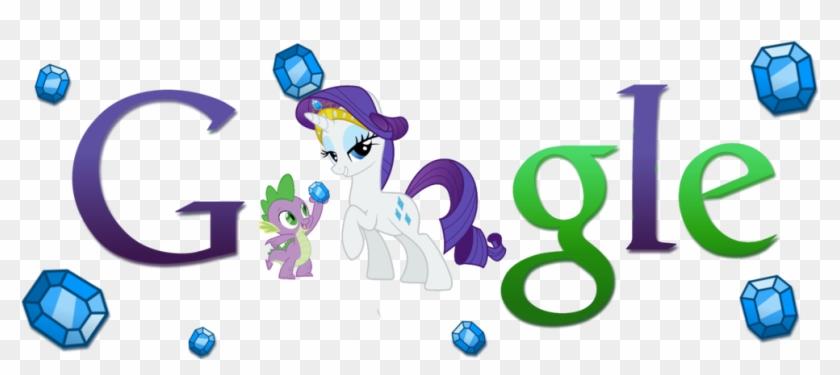 Rarity And Spike Google Logo - Http Www Google Com Intl #1281638