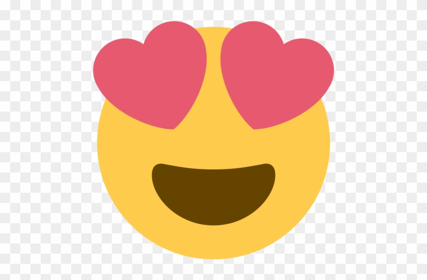 Purple Heart Emoji - Smiling Face With Heart Shaped Eyes - Free