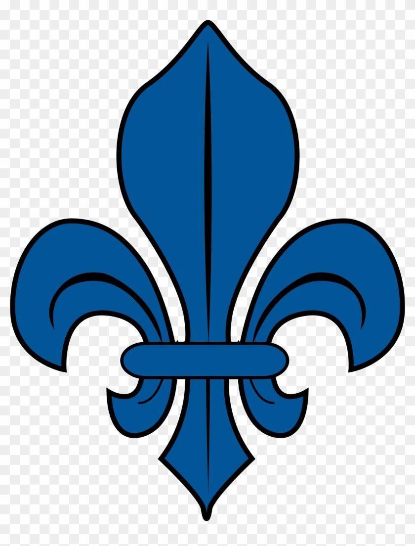Blue Fleur De Lys Fleur De Lys Quebec Free Transparent Png