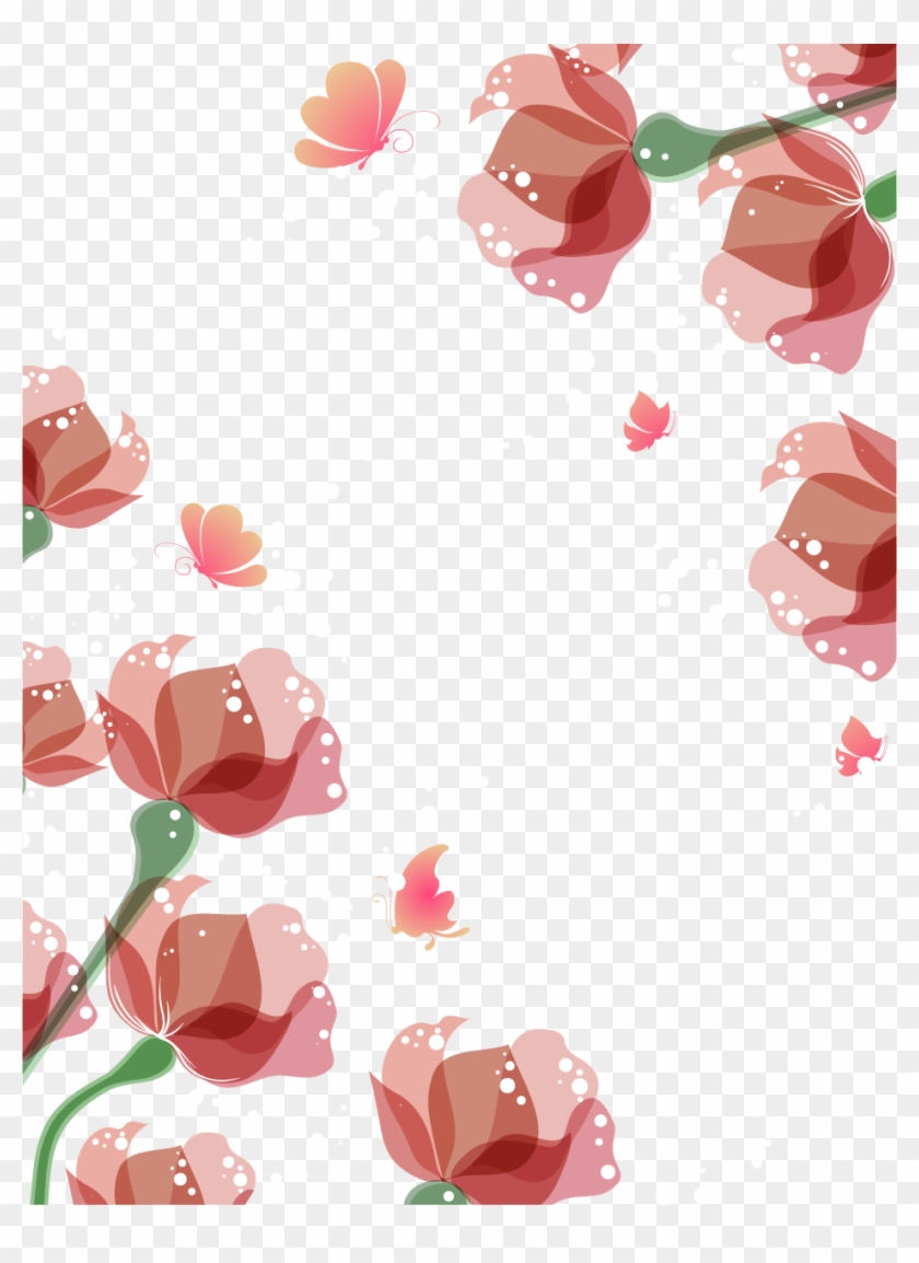 Flower Euclidean Vector - Watercolor Flowers Border #1284213