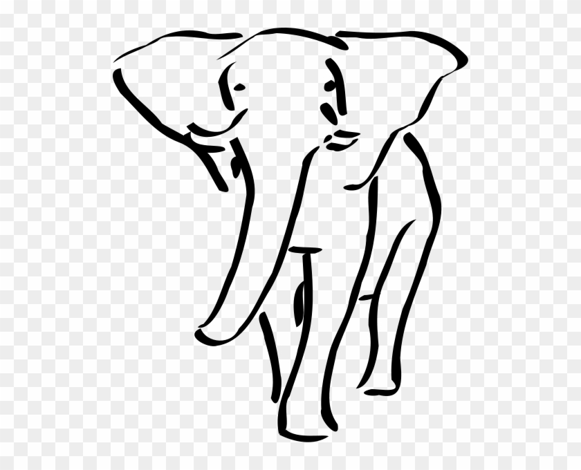 Elephant Png Clip Arts - Elephant Outline Embroidery Design #1284233