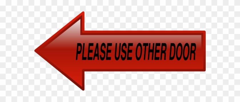 Door Sign Clip Art At Clker - Please Use Other Door Clipart #1284245