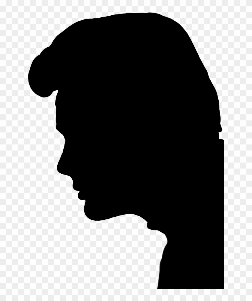 Profile Silhouette Of Young Man, Face Silhouette - Man Face Silhouette Png #1284646