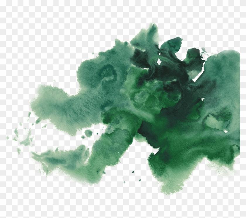 Watercolor Painting Green Tea - Drawing #1285044
