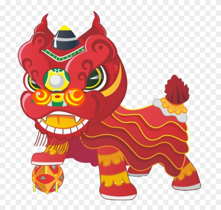 China Lion Dance Cartoon - New Year Chinese Lion #1285147