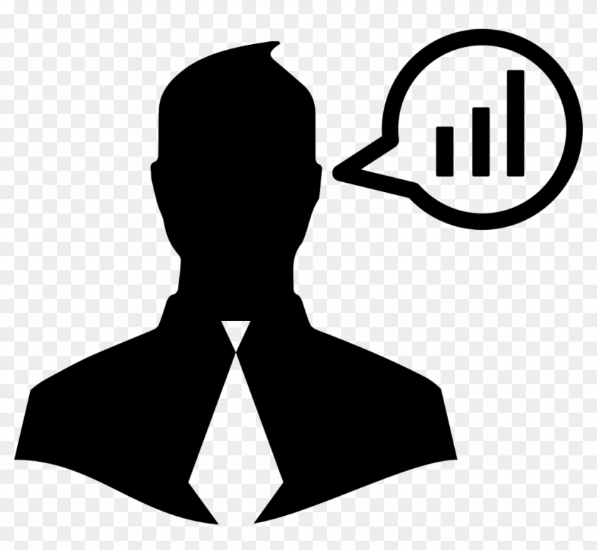Businessman Talking About Data Analysis Comments - Business Man Icon #1285296
