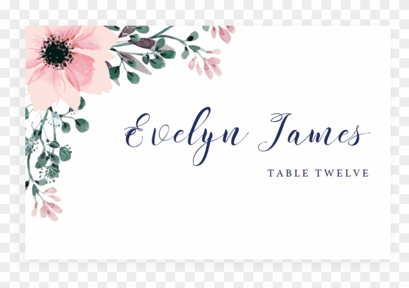 Wedding Invitation Flower Place Cards Greeting & Note - Wedding #1285799