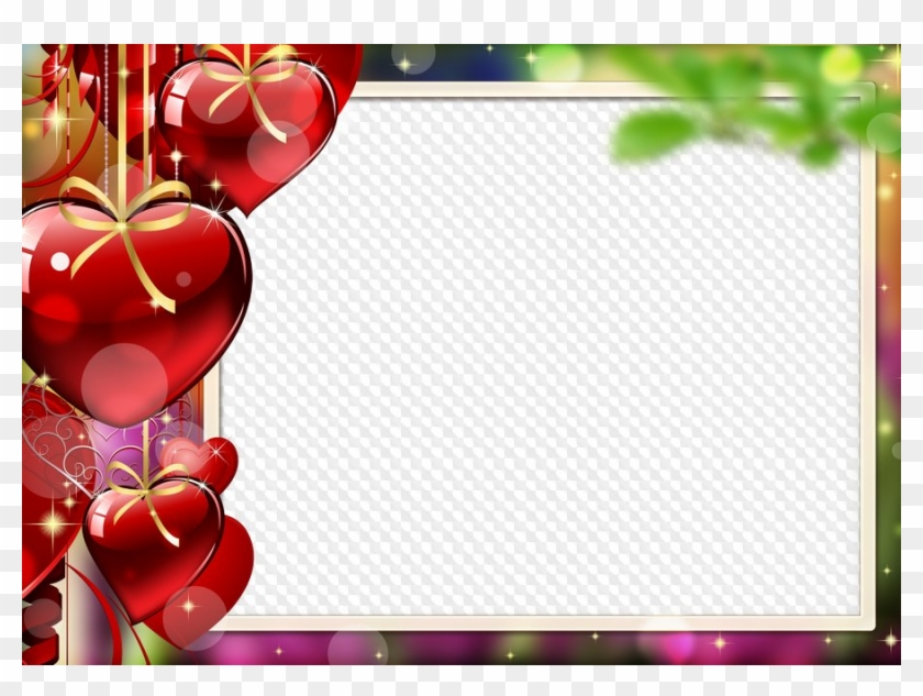 Photo Frame With Hearts For St - Background For Happy Valentines Day Png #1285929