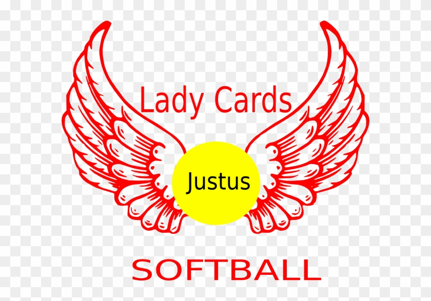 Yellow Softball Clip Art At Clker Com Vector Clip Art - Angel Wings And Halo #1286679