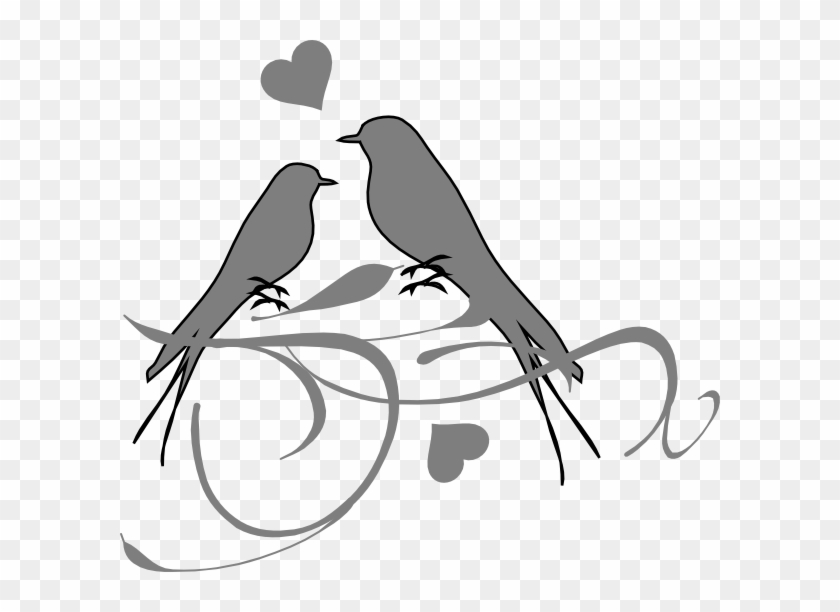 This Free Clip Arts Design Of Birds On A Branch - Png Love Birds Hd