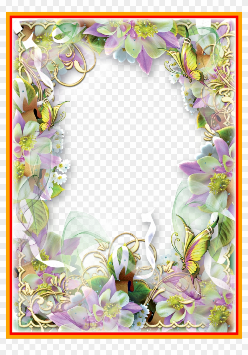 Butterfly Images Butterfly Images With Transparent - Butterflies Spring Flower Borders Clip Art #1286800