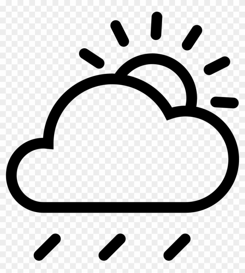 Cloud Sun Rain Comments - Cloud Sun Rain Icon Png #1287892