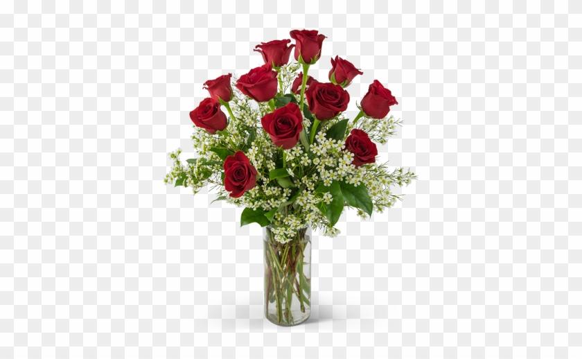 Swoon Over Me Dozen Red Roses - 1 2 Dozen Roses In Vase #1288264