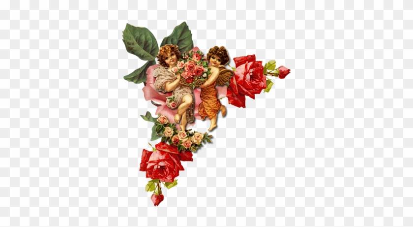Винтажные Уголки 1 - Der Vintage Viktorianische Tag Des Valentines, Karte #1288313