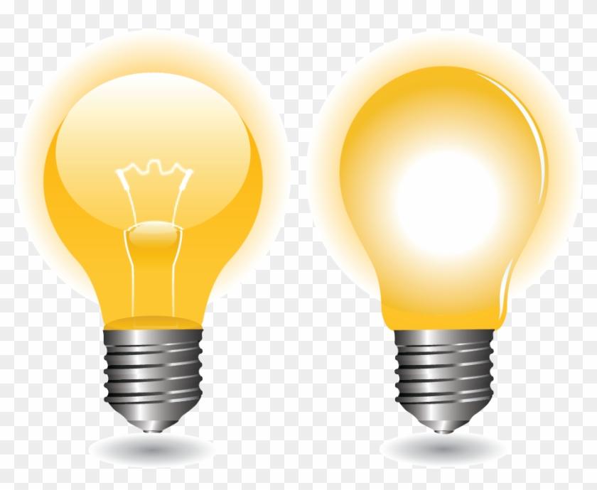 Incandescent Light Bulb Euclidean Vector Led Lamp - Incandescent Light Bulb #1288412