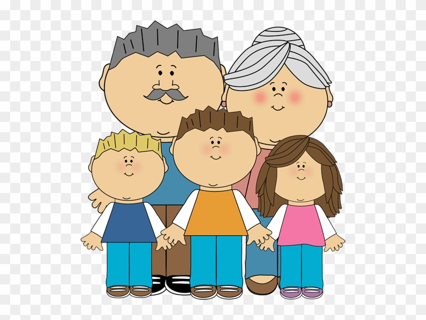 Grandparents And Grandchildren Clip Art Image - Clip Art #1288498