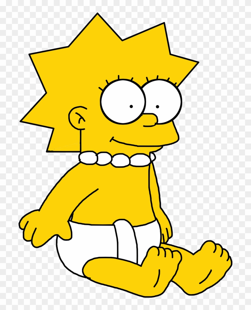 Lisa Simpson Maggie Simpson Simpson Family The Simpsons - Lisa Simpson As A Baby #1288915