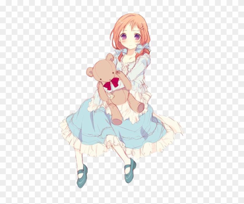 Comment - Anime Girl With Teddy Bear #1290381