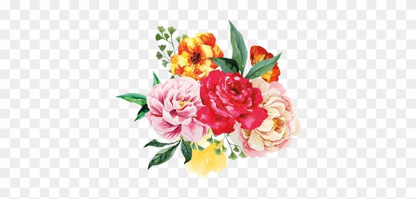 Couleur De Votre Mur - Flower Bouquet Watercolor Png #1291043