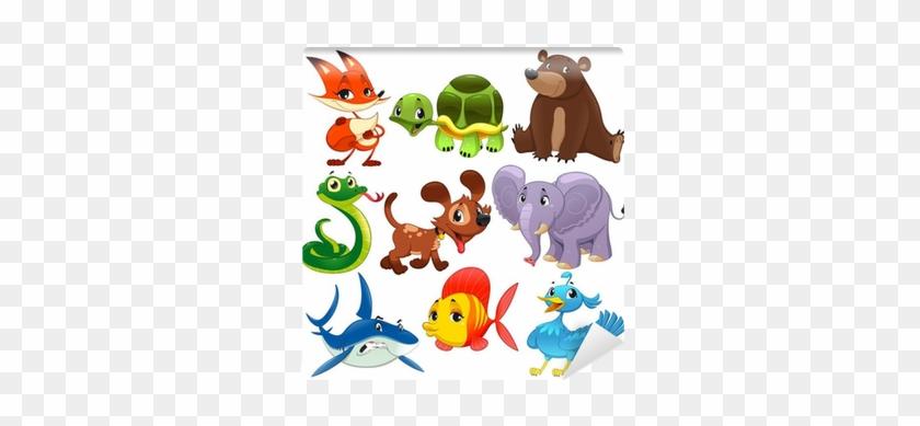 Set Of Animals - Cute Animal Cartoon Vector #1291085