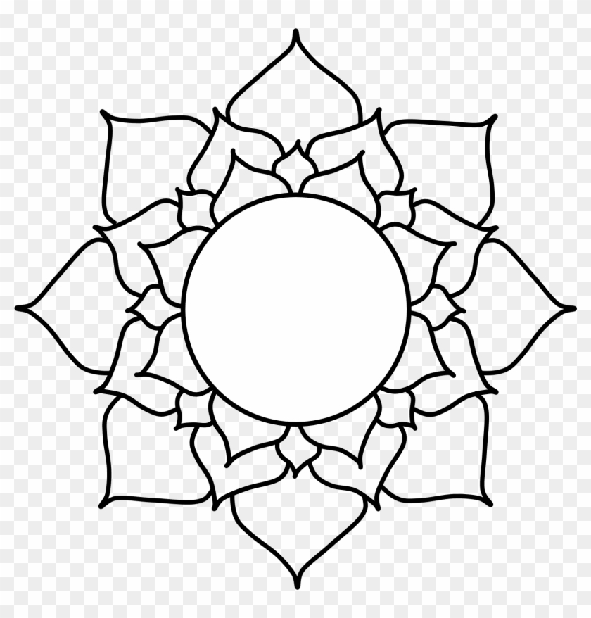 Free Mandalas Clipart14 Lotus Flower Drawing Top View Free