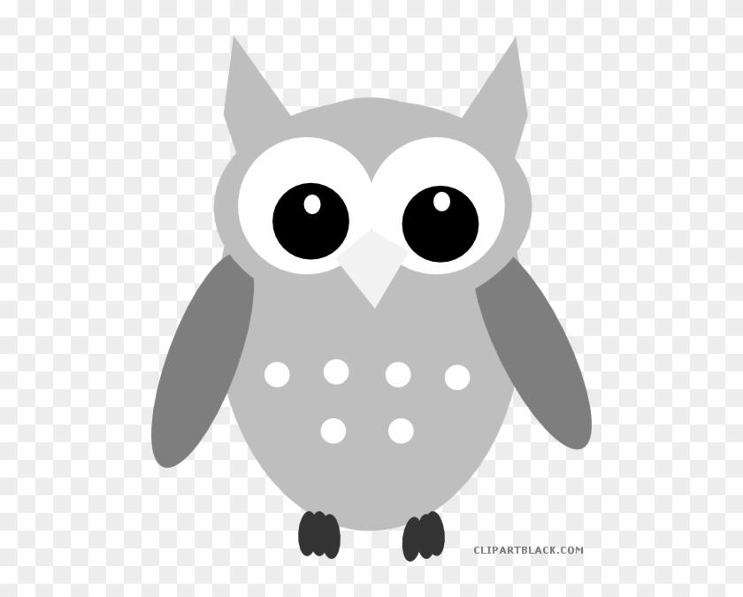 Gray Owl Animal Free Black White Clipart Images Clipartblack