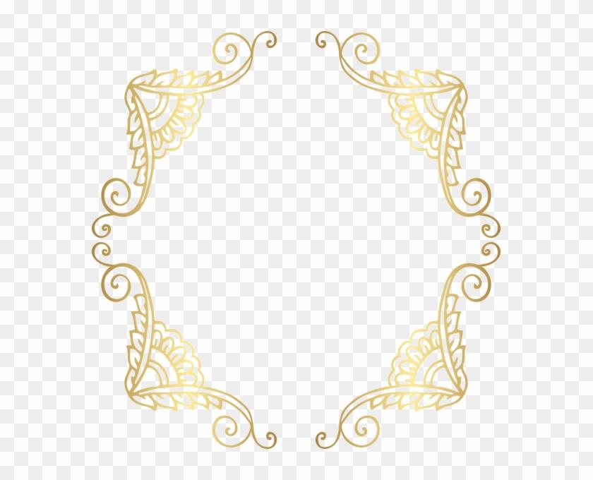 Golden Border Frame Png Clip Art Image - Gold Border Png #1292438