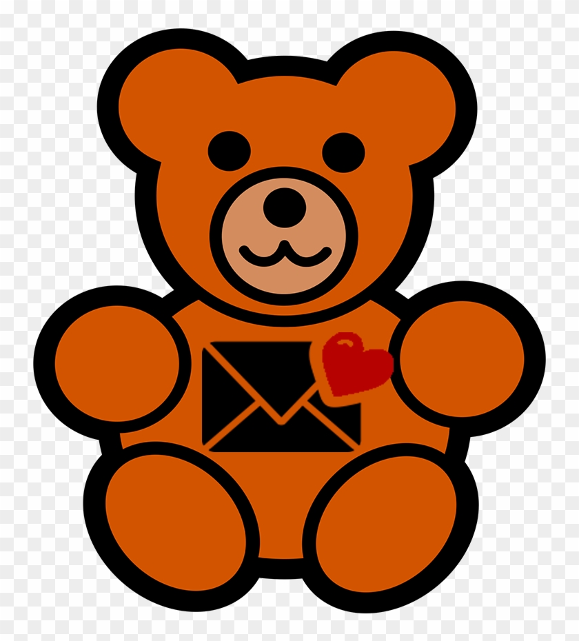 Paper Hug Contact - Draw A Teddy Bear #1293876