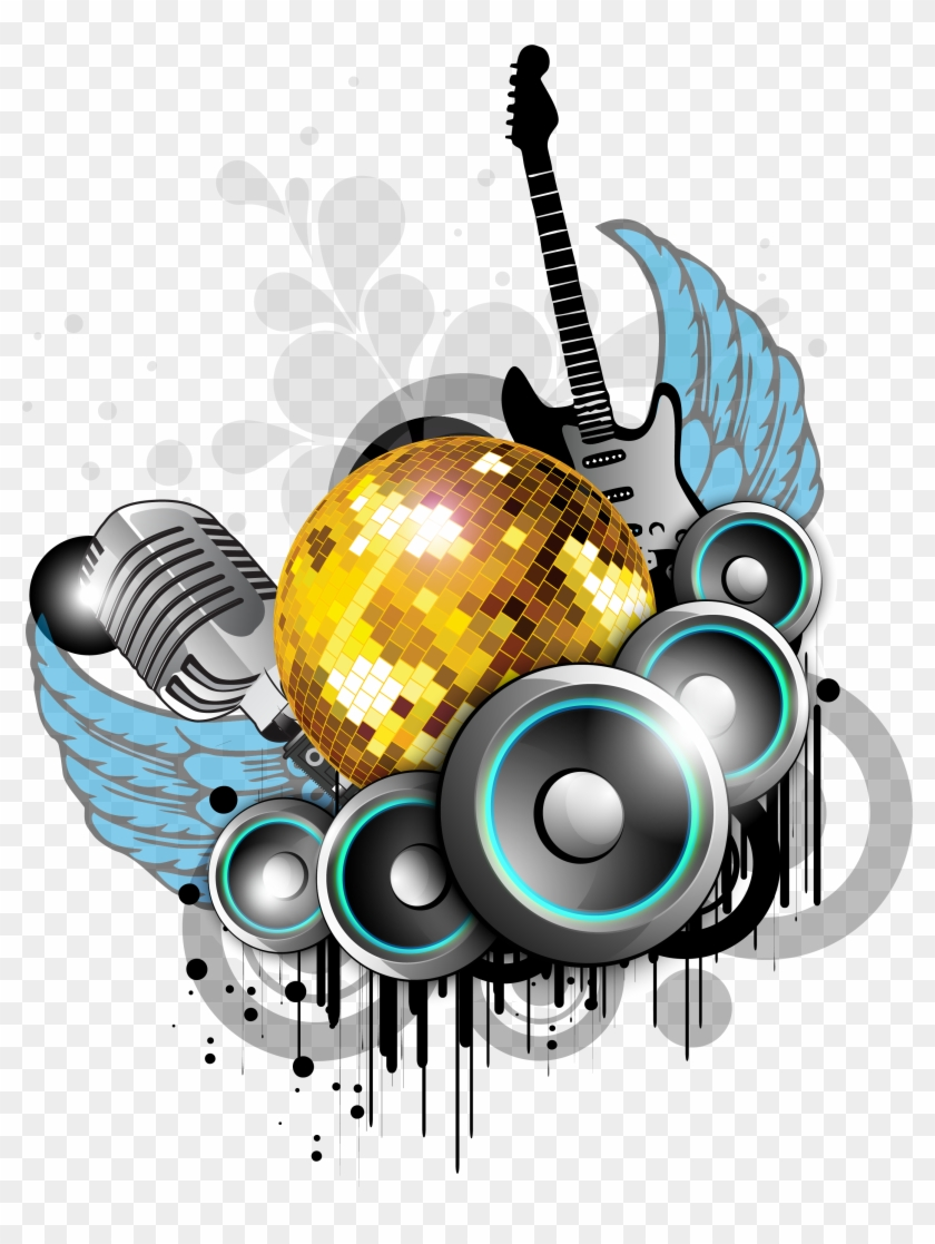 Nightclub Background Music Party - Music Party Vector Png