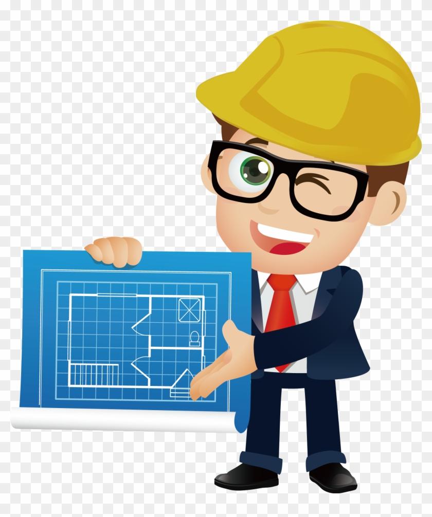 Architectural Engineering Cartoon - Engineer Png #1295817