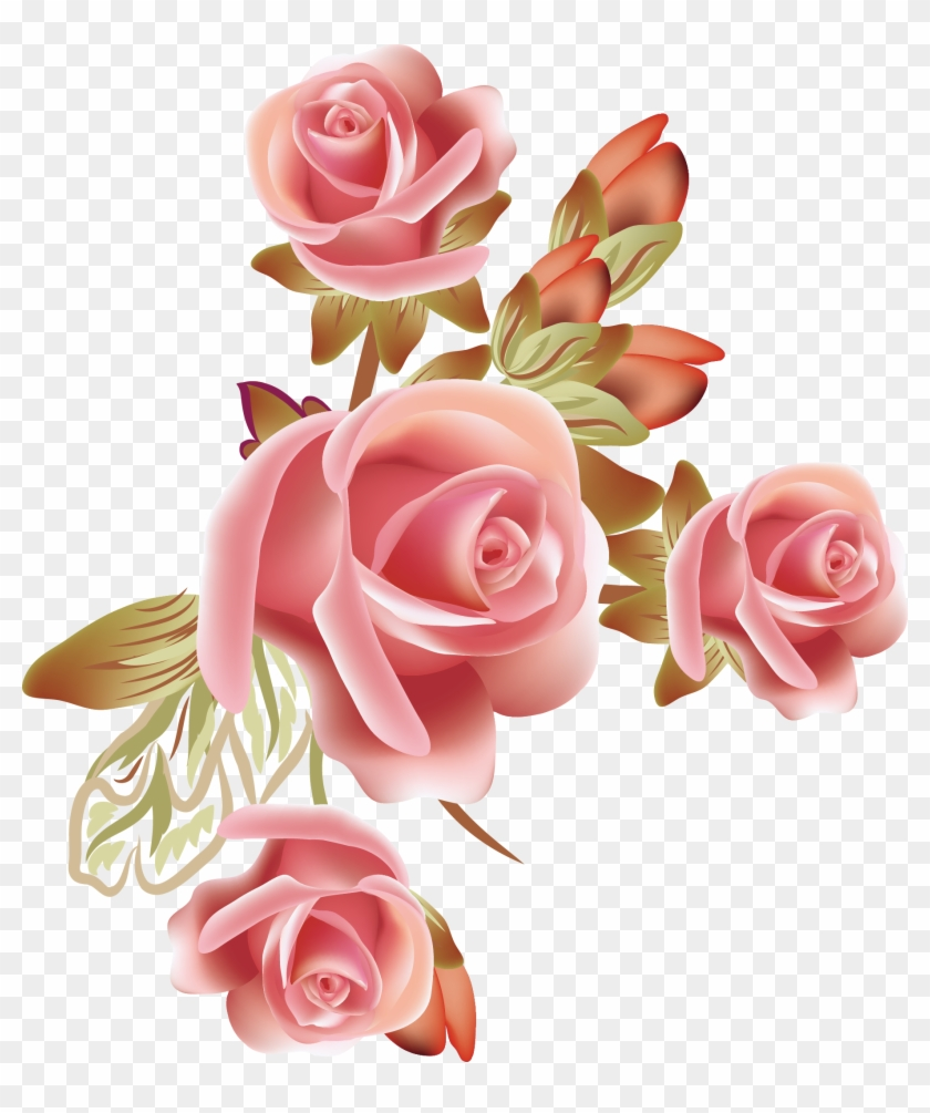 Clipart Pink Rose Vector Image Pictures Picturesboss