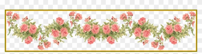 Rose Flower Rose Flower Frames Design Png Incredible - Border Wedding Orange Flowers Transparent Background #1296410