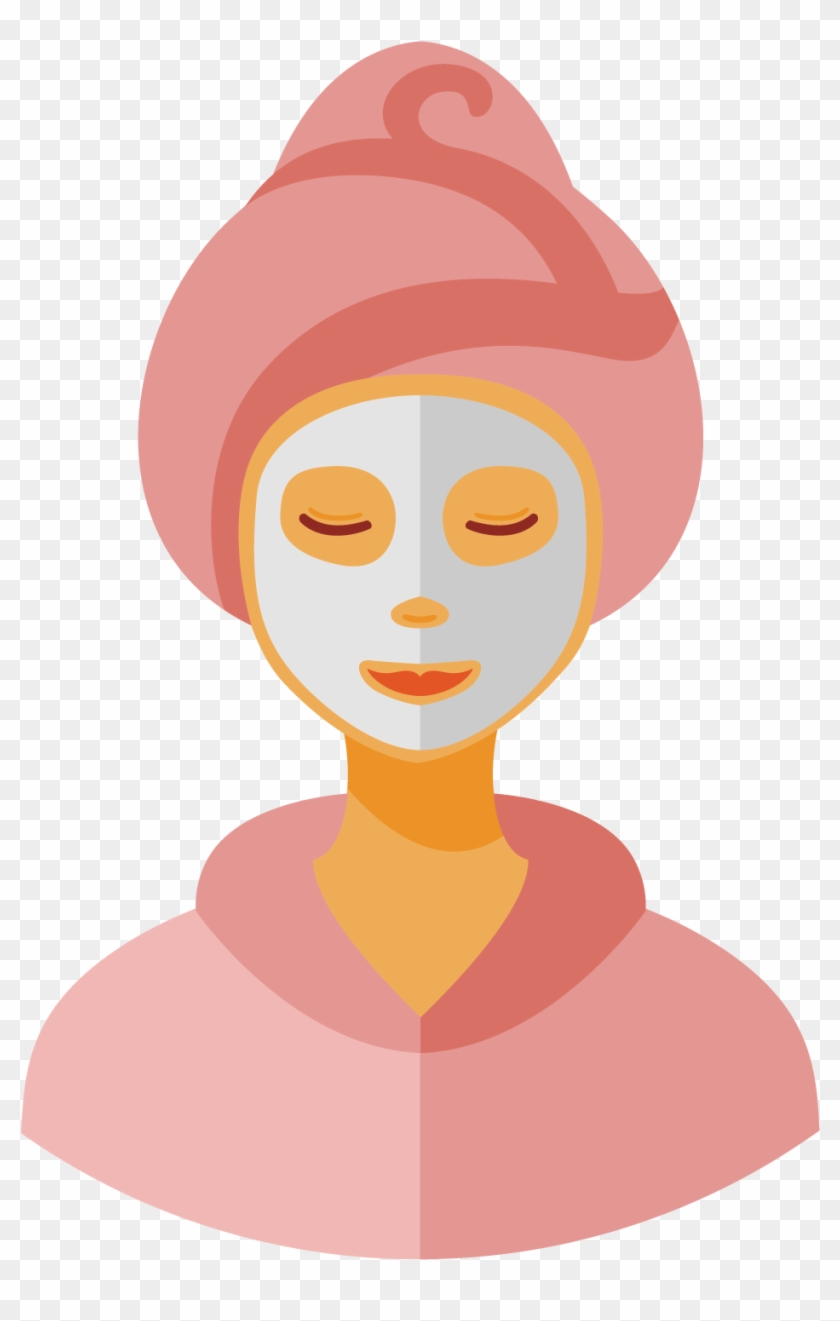 Facial Clip Art - Woman Face Mask Png Vector - Free ...