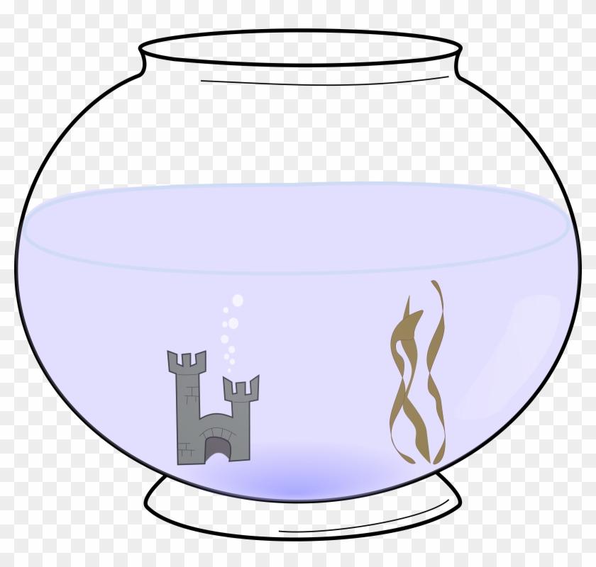 Fish Bowl Clip Art Black And White Vase Free Transparent Png