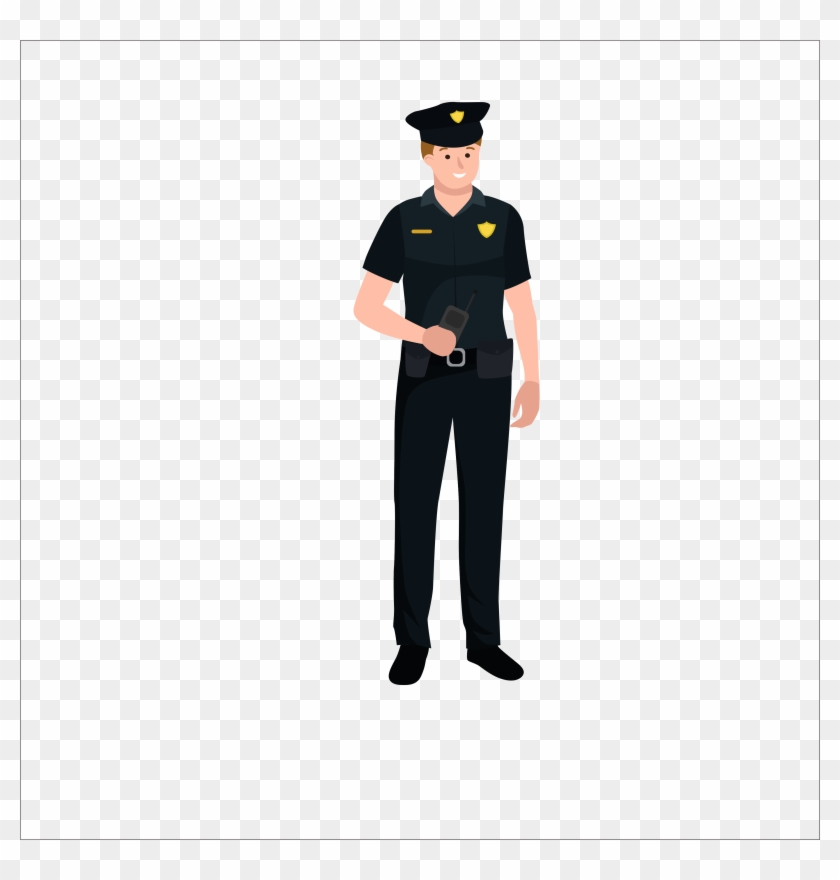 Flat Police 3547*3547 Transprent Png Free Download - Security Guard