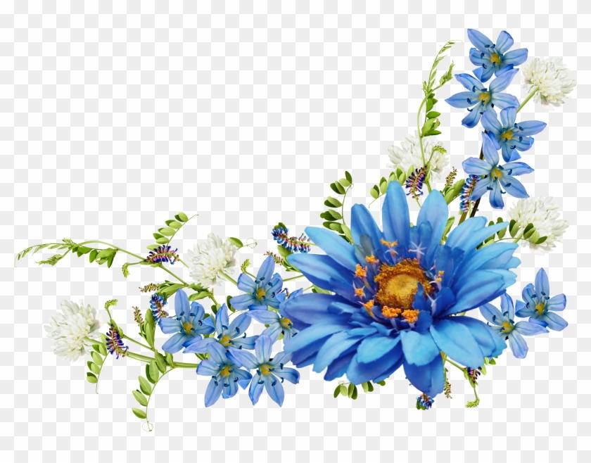 Flower Desktop Wallpaper Blue Wallpaper