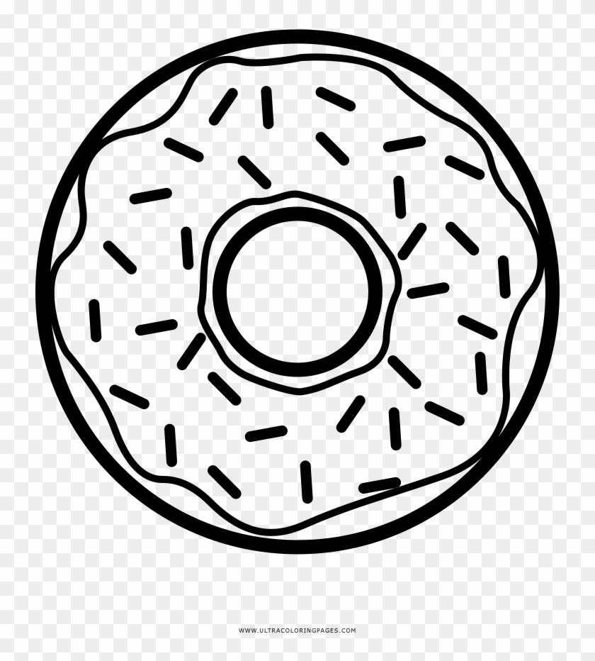 On Doughnut Coloring Page Ausmalbild Donut Free Transparent Png Clipart Images Download