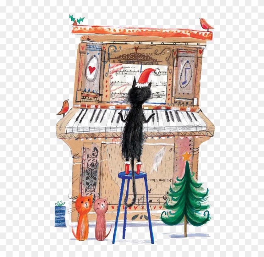 Cat Birthday Piano Greeting Card Music