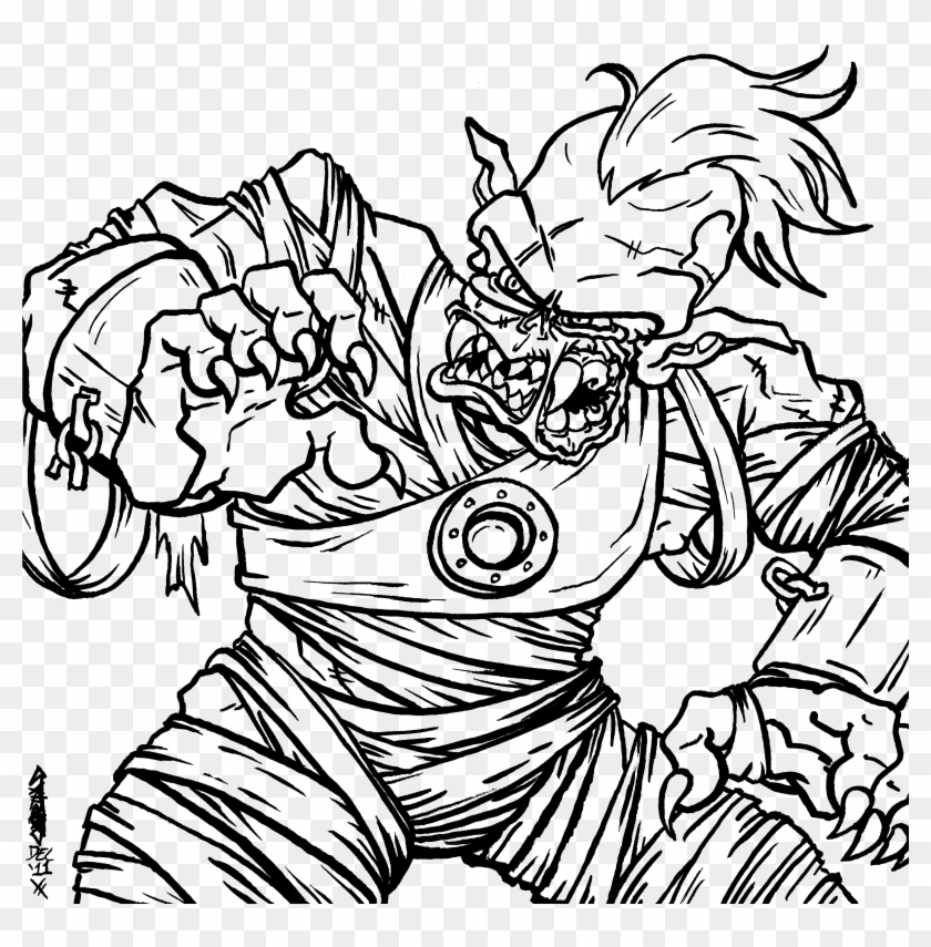Coloring Pages Clipart Zombie