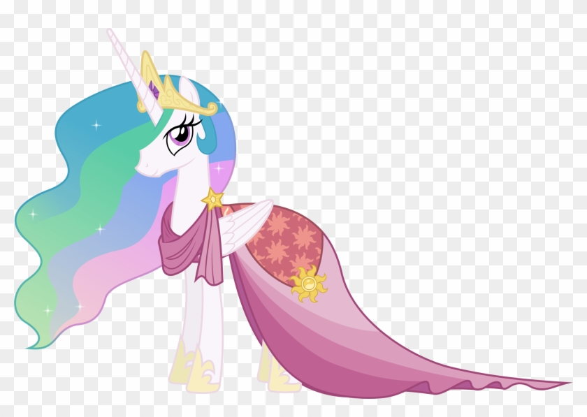 Princess Celestia In A Dress