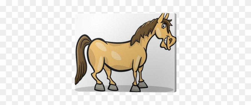 Cuadro En Lienzo Caballo De Granja De Dibujos Animados - Cute Horses ...