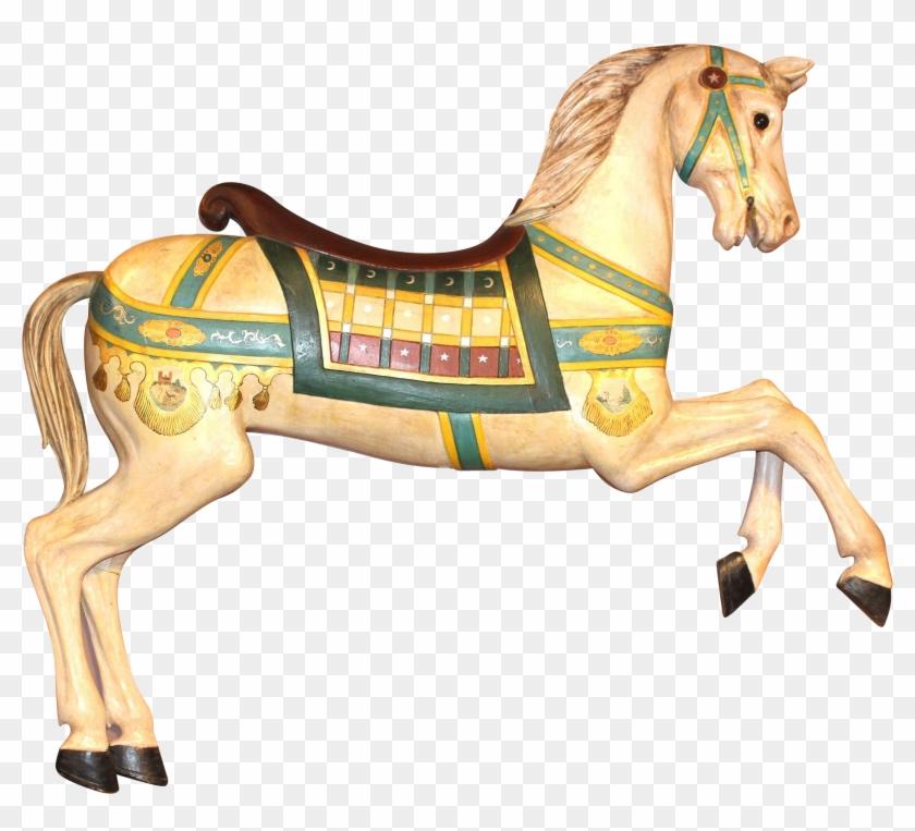Polychrome Decorated Carousel Prancer Horse - Carousel Horse Transparent #1302315