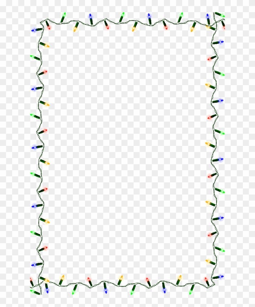 Christmas Light Border - String Of Christmas Lights - Free