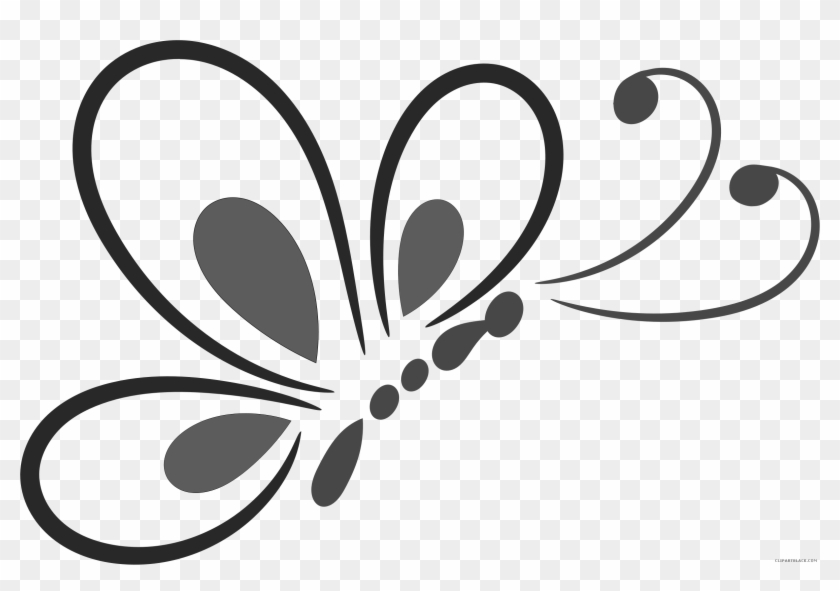 Butterfly Huge Animal Free Black White Clipart Images Butterfly Line Art Png Free Transparent Png Clipart Images Download