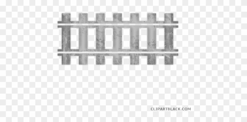 Train Tracks Transportation Free Black White Clipart - Railroad Tracks Clip Art #1303386