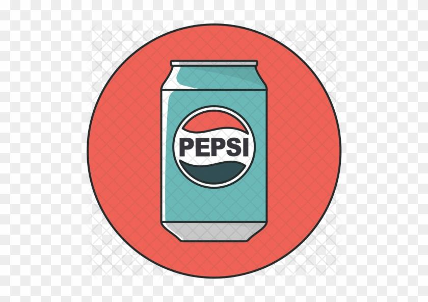 Beverage, Pepsi, Can, Drink, Cola, Soda Icon - Pepsi Icons #1304714