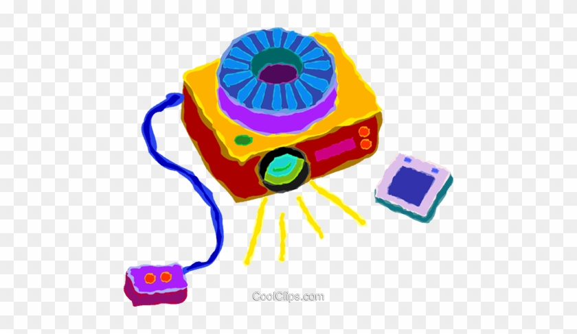 Slide Projectors Royalty Free Vector Clip Art Illustration - Baby Toys #1305049