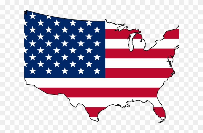 America Clipart Us Citizen - United States Flag Map #1306046
