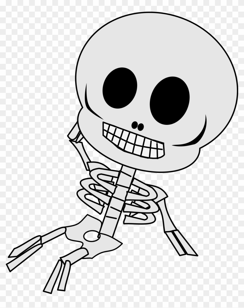 Sleleton Clipart Baby Skeleton - Clipart Skeleton #1306879
